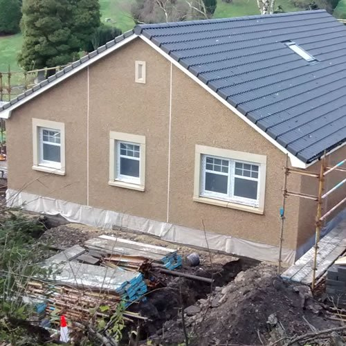 new build timber frame in Fife