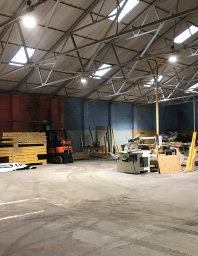 new build timber frame production