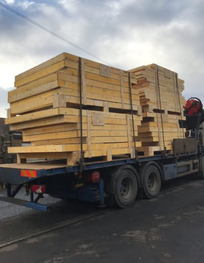 timber frames for new builds delievered in scotland