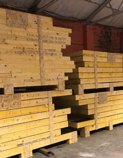 timber frames ready for delivery